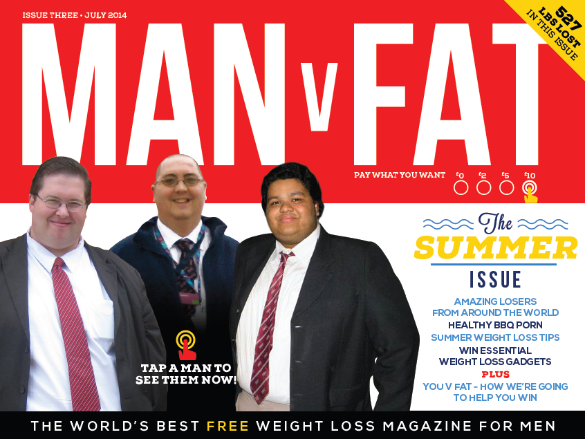The cover of Man V Fat Issue 3
