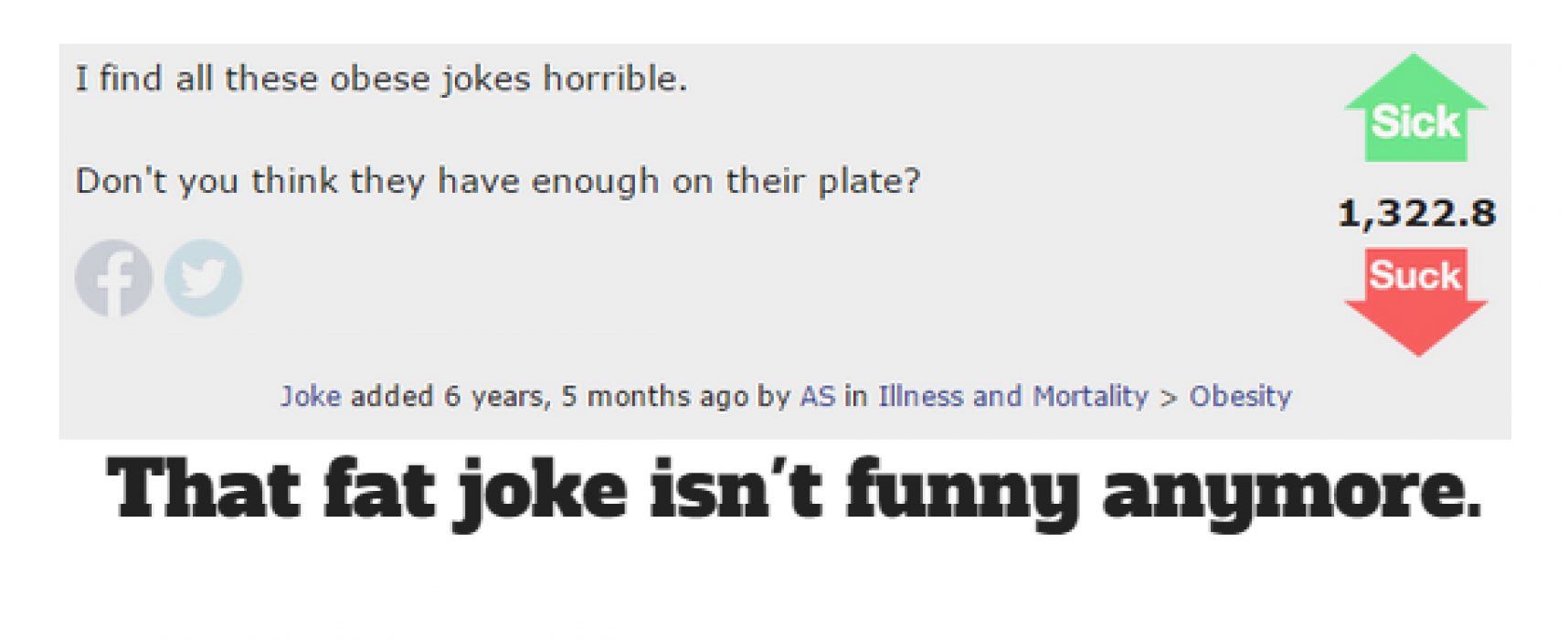 The 10 Most Offensive Fat Jokes