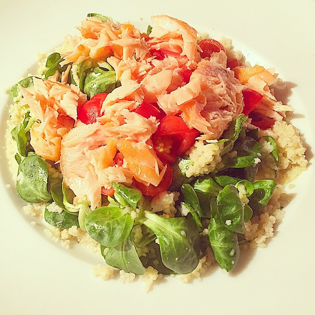 14. salmon and cous cous