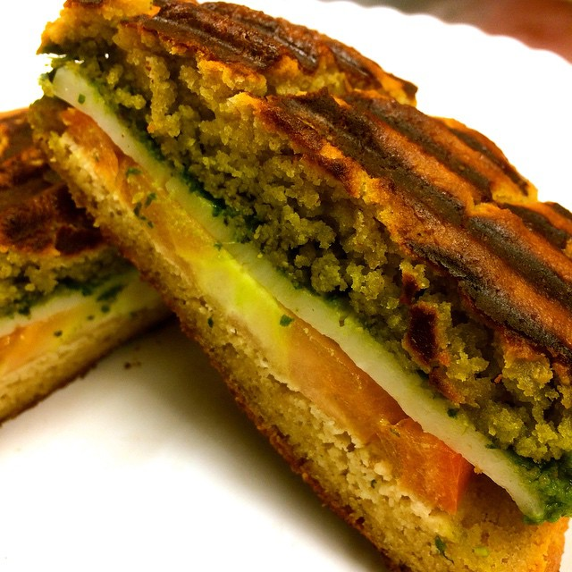 23. pesto grilled cheese