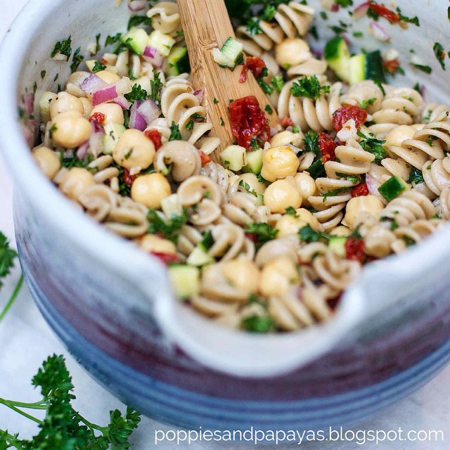 4. bean and pasta salad