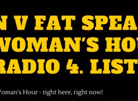 MAN v FAT Comes To Woman's Hour