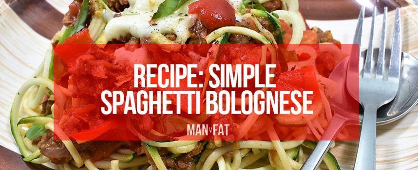 Recipe: Simple spaghetti bolognese