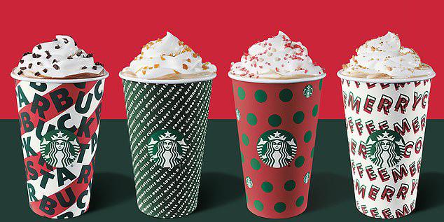 Starbucks Christmas drinks calories 2019