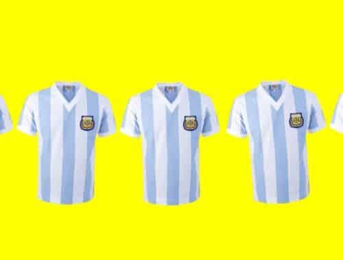 win a retro argentina shirt