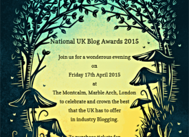Come to the UK Blog Awards 2015 With Us