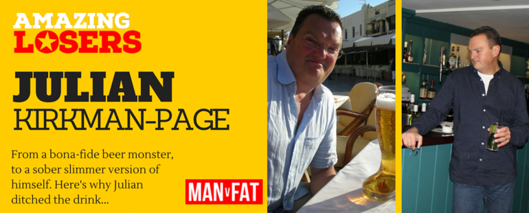 Stopping Alcohol Weight Loss Transformation - Julian Kirkman-Page #AmazingLoser