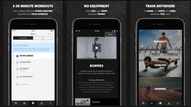 Freeletics Bodyweight app screenshot