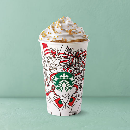 Festive drinks 2017 - Toffee Nut Latte