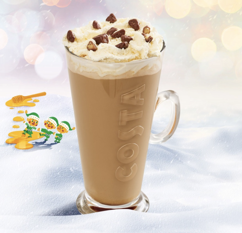 Festive drinks 2017 - Costa Honeycomb Latte
