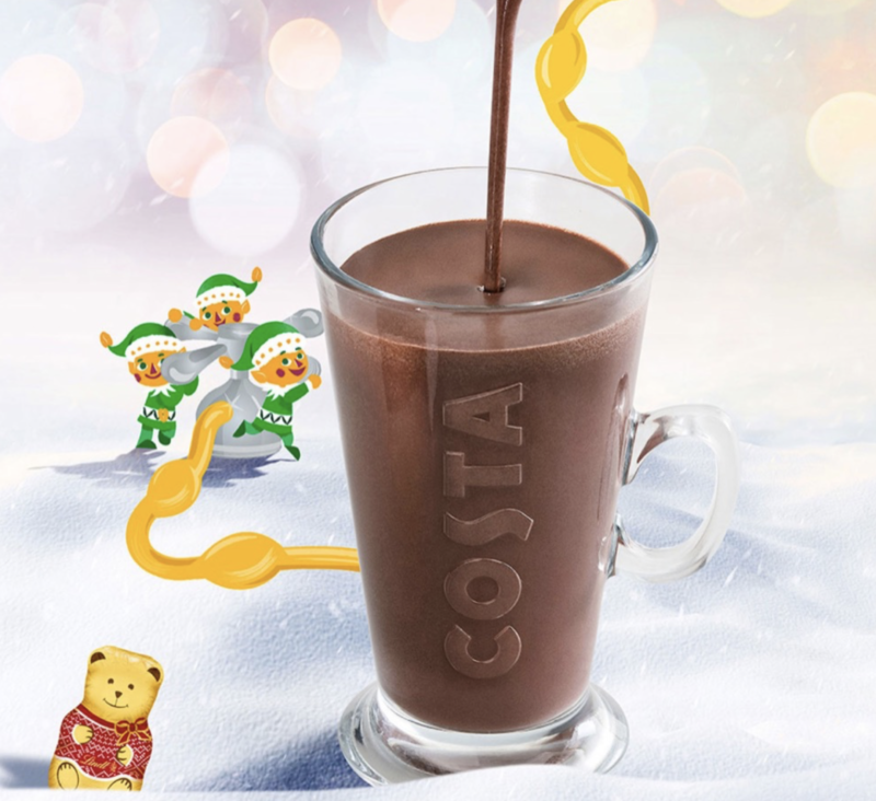 Festive drinks 2017 - Costa Lindt Hot Chocolate