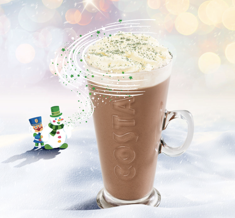 Festive drinks 2017 - Costa Mint Hot Chocolate