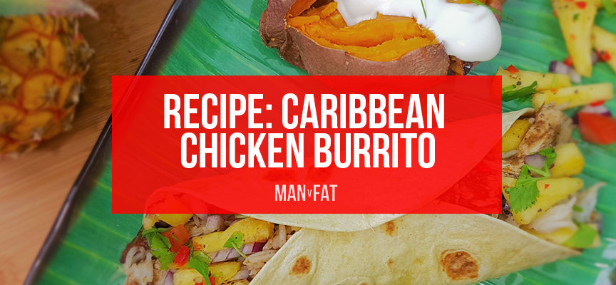 RECIPE: Caribbean chicken burrito with pineapple salsa
