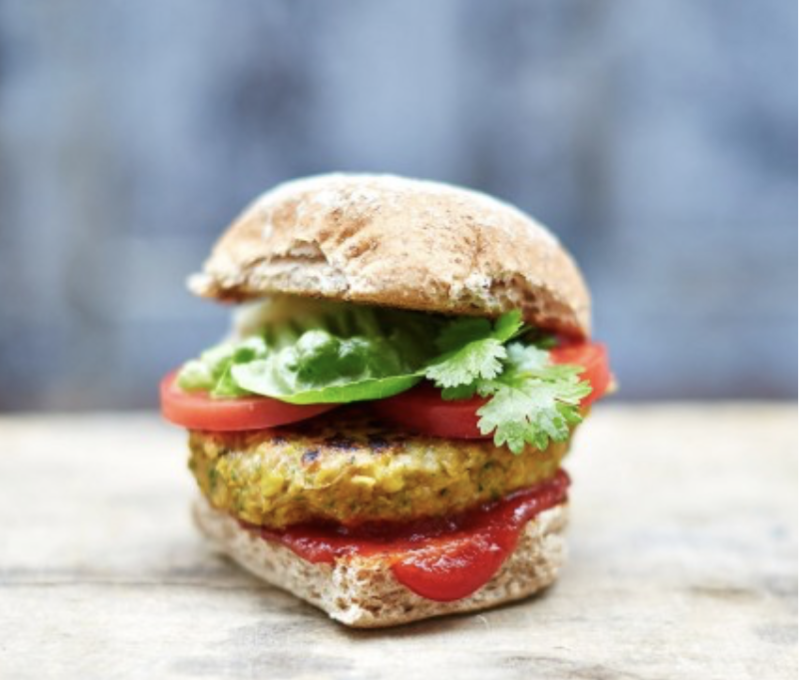 Amazing vegan recipes - vegan burger