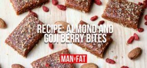 Photo: Recipe: Almond and goji berry bites