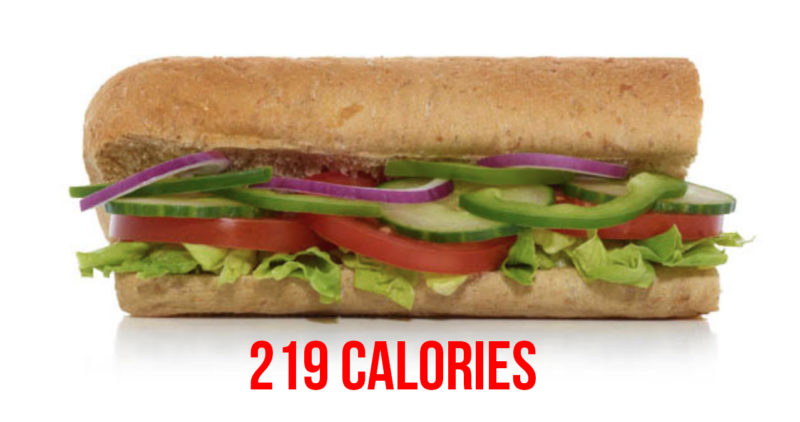 Subway healthy swaps - veggie delete