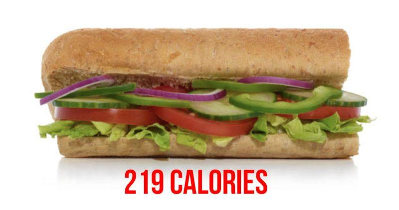Subway healthy swaps - veggie delete
