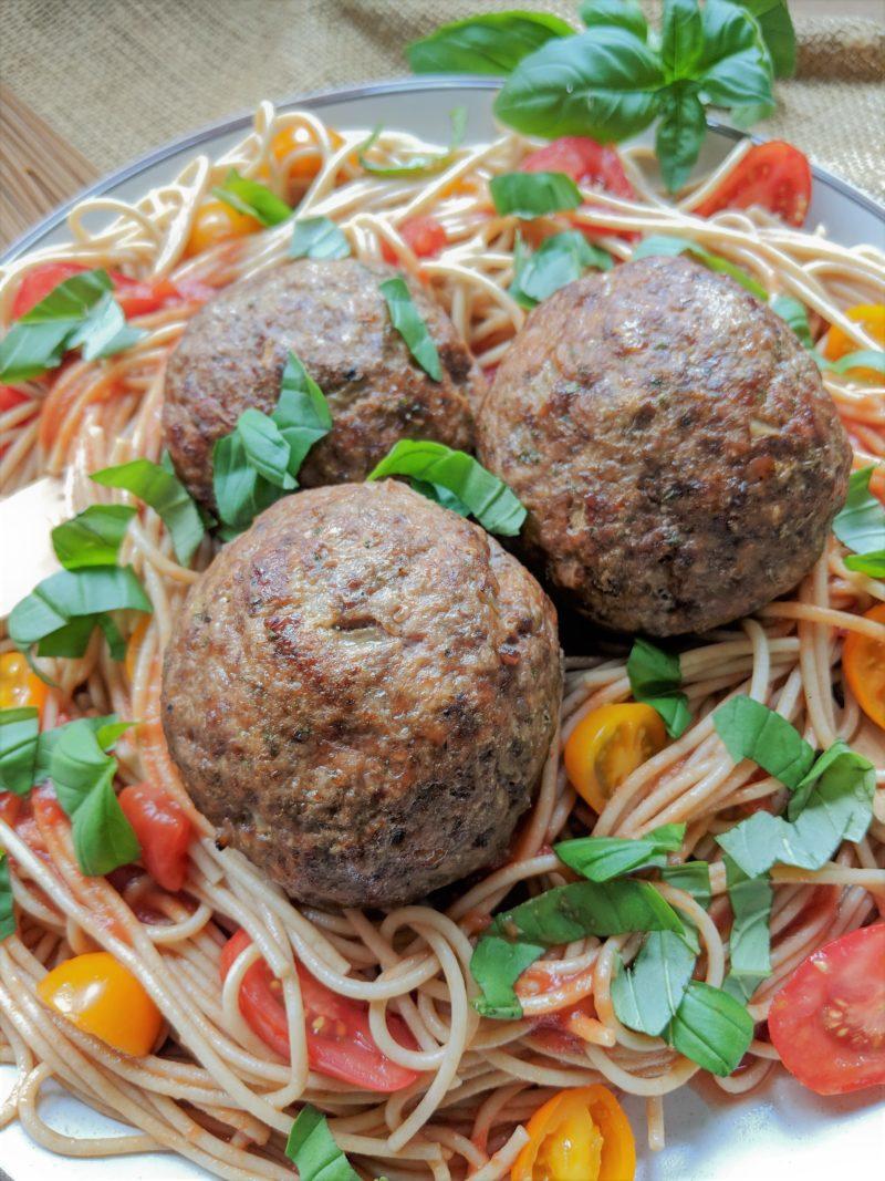Giant Italian meatballs recipe