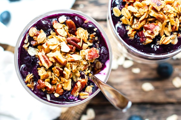 healthy meal prep recipes - blueberry overnight oats