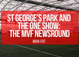 MAN v FAT Football St George's Park on the One Show! | Newsround
