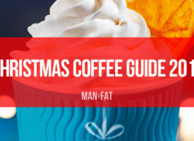 How many calories in Costa and Starbucks Christmas coffees?