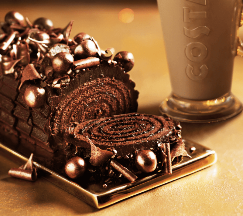 calories in Starbucks and Costa Christmas food