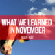 What we learned in November