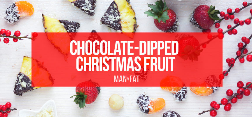 Recipe: Chocolate dipped Christmas fruit